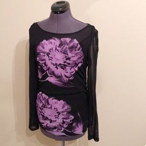 INC International Concepts Sheer Floral Graphic